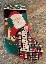 CHRISTMAS STOCKING -MANUFACTURE  NEEDLE POINT - SANTA - 17