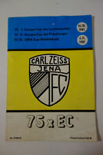 FC Carl Zeiss Jena, Programmheft 75 x EC, Europa-Cup, UEFA-Cap, 1961-1981, DDR
