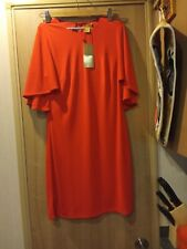 H&M Red Dress with cape sleeves Size 8
