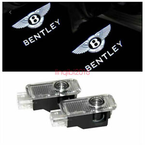 2pcs HD Laser LED Door logo Ghost Shadow Light For Bentley Continental GT