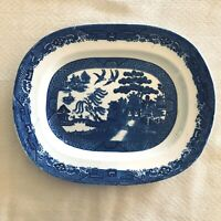 "Blue Willow Platter Made in England 8"" x 10"""