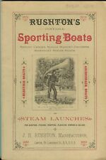 Rushton's Portable Sporting Boats and Steam Launches 1889 Catalogue