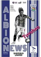 West Brom Bromwich Albion v Sheffield United PROGRAMME 28/11/20! PRE-ORDER!!!