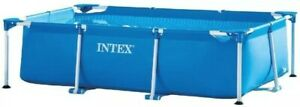 Intex Small Family Frame Set Pool 260 x 160 x 65cm Rectangular Durable Water Fun