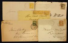 Canada, Lot of 5 Covers, Queen Victoria #5720