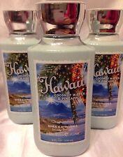 3 Bath & Body Works Hawaii Coconut Water & Pineapple Body lotion vitamin E, B5