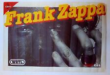 FRANK ZAPPA - AFFICHE ORIGINALE DE CONCERT -  TRÈS RARE – (1980)