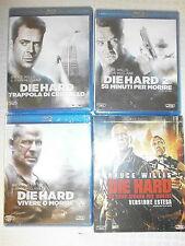 DIE HARD 1-2-4-5 SERIE DI 4 FILM IN BLU-RAY NUOVI DA NEGOZIO INCELLOFANATI