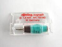 rotring 751140 Zeichenkegel 1,4 mm für Tuschefüller isograph OVP 1,4mm