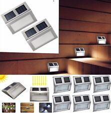 6pcs Solar Powered Door Step Fence Deck Wall Lights LED Outdoor Garden Lighting