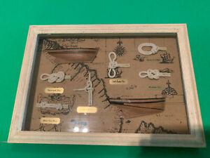 Vintage Nautical Knots Framed Shadowbox Wall Art