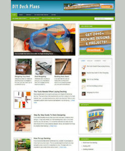 DIY DECK PLANS WEBSITE WITH FULLY STOCKED AFFILIATE STORE & BANNERS + DOMAIN