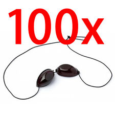 100 X Pairs of Elastic Tanning Goggles - Eye Protection iGoggles for Sunbed Use