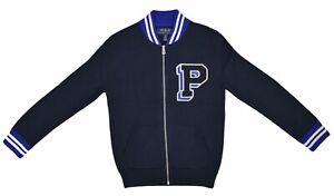 Polo Ralph Lauren Boys Cotton Full-Zip Sweater, Navy, Size XL(18-20), 9853-1