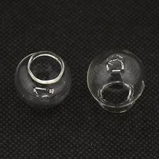 4 Vidrio hueco soplado a mano Globo Cabujones 22 X 20 mm bolas de vacío 11 Orificio - 13mm