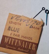 Venus hands 170 Chronograph 2(pair) hands, BLUE, 26mm (13mm), for watch repair