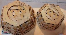 2 Small Longaberger Baskets 2000 & 2001, excellent condition