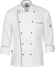 2x Classic Chef Jacket - Long Sleeve Unisex Uniform 1112 DNC L White