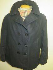 Vintage Ladies 2001 US NAVY PEA COAT Naval Clothing Melton Wool UK 20 Euro 48
