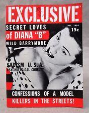 Premier Issue #1 EXCLUSIVE Magazine Vol. 1 #1 Jan 1954 high grade