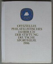 s1688) Olympische Spiele 1986 - Jahrbuch der Stiftung Deutsche Sporthilfe ** FDC