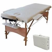 """New 84""""L Portable Massage Table Facial SPA Bed Tattoo w/Free Carry Case White"""