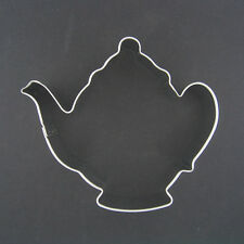 "TEAPOT 3.75"" METAL COOKIE CUTTER TEA PARTY WOMAN LADY PROPER ETIQUETTE"