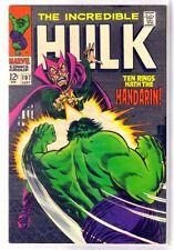 Hulk #107 Ten Rings Hath the Mandarin! Marvel Comic Book ~ Vf/Nm