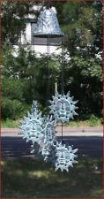 Bronzeskulptur, Windspiel, Klangspiel, Sonnenmotiv, Dekoration