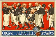 POSTCARD FRENCH ADVERTISING MARTELL COGNAC CHROMOLITH