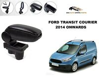 ARMREST CENTRE CONSOLE SPEACIALLY FORD TRANSIT COURIER 2014-18 BLACK LEATHERETTE