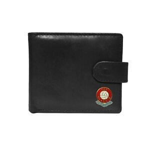 Burnley football club black leather wallet with coin pocket, new in box