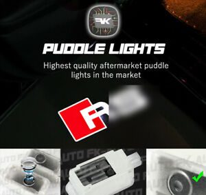 2X HD Puddle Lights Door Courtesy Projectors Compatible with AUDI R by FKAUTO