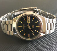 VINTAGE 6309 SEIKO 5 AUTOMATIC, BLACK FACE WITH LUMINOUS MARKERS & HANDS
