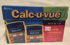 Calc-U-Vue Basic Student Calculator set of 10 New In Box