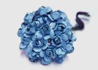 "0.75"" Mini Mulberry Paper Flower Royal Blue(120 Flowers)"