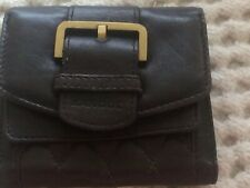 Kangol Women's Dark Brown Leather Purse Wallet