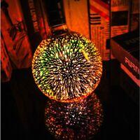 Starry Sky 3D Fireworks E27 LED Light Glass Bulb holiday Party Decor Lamp 220V