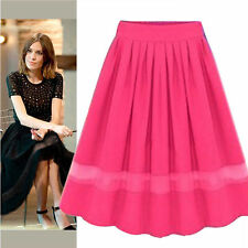Fashion Women's Chiffon  Double Layer High-waist Skirt  Dress 104