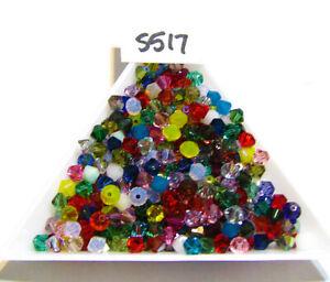 Genuine Swarovski Bicone Beads RANDOM COLOR MIX 4mm Lot of 100  S517