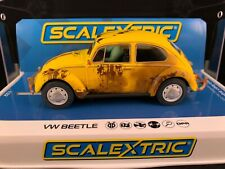 C4045 SCALEXTRIC VW VOLKWAGEN BEETLE YELLOW RUSTY  1:32 SCALE SLOT CAR