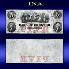 South Carolina Bank of Chester $5 Obsolete Currency Note Nice Grade and Rare