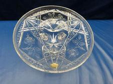 6894. Große Schale mit Füßen  -  Bleikristall  -  mit Blumenmuster  -  31,5 cm