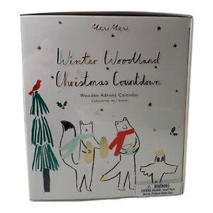 Meri Meri Wooden Woodland Animals Christmas Advent Calendar Building Kit