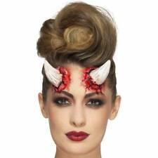 Ivory Realistic FX Devil Horns Prosthetic Make Up Fancy Dress Halloween