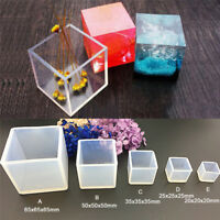 Cube Silicone Mold Resin Jewelry Making Mould Epoxy Pendant Craft DIY Tool