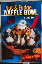 Dairy Queen Promotional Poster For Backlit Menu Sign Nut & Fudge Waffle Bowl dq2