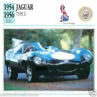 JAGUAR TYPE D 1954 1956 CAR VOITURE Great Britain GRANDE BRETAGNE CARD FICHE