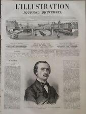 L' ILLUSTRATION 1866 N 1202 M. JULES BARA, MINISTRE DE LA JUSTICE DE BELGIQUE