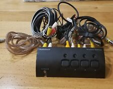 RADIO SHACK S-VIDEO SWITCH MODEL #15-1966 WITH 3 SET CABLES